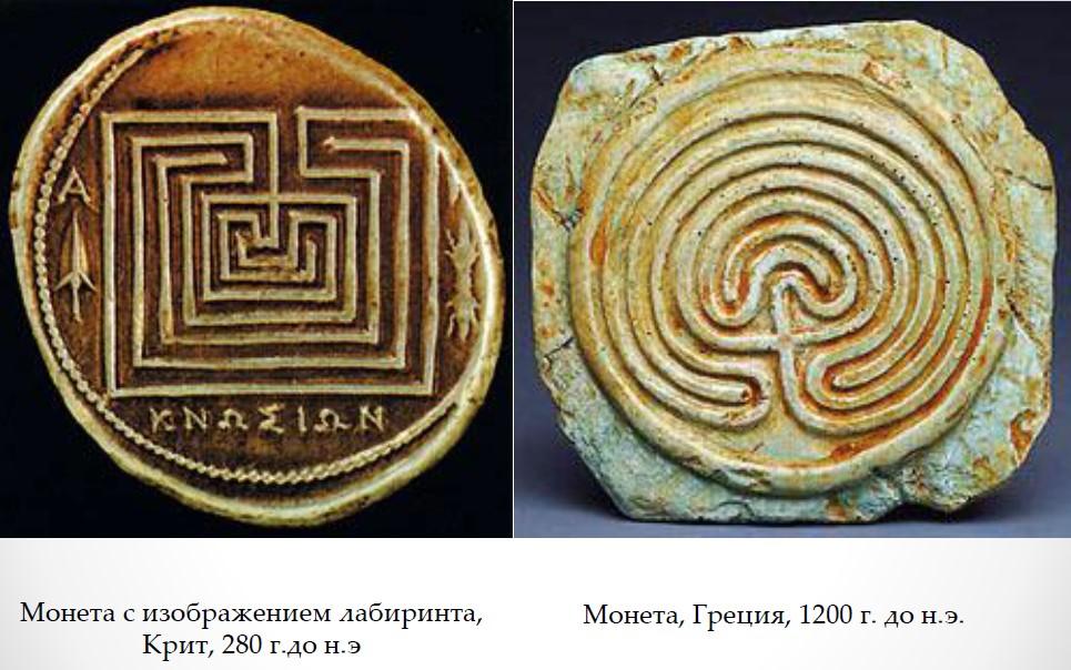 Монеты с изображением лабиринта,